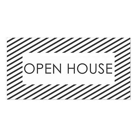 CGSignLab 5-Pack Stripes White Window Cling 24x12 Open House