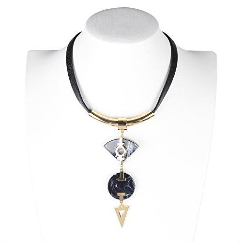 United Elegance - Distinctive Gold Tone Designer Statement Choker Necklace from United Elegance