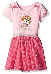 Nickelodeon Little Girls\' Paw Patrol Birthday Dress, Pink, 5