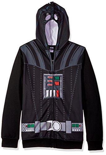 Star Wars Men's Darth Vader Character Zip Front Hoodie, Black, XX-Large