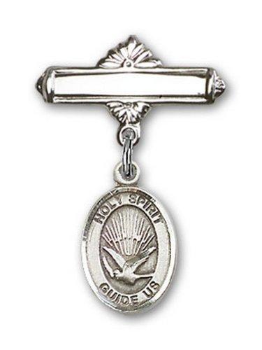 Icecarats Créatrice De Bijoux En Argent Sterling Charme De L'Esprit Saint Broche De Badge 1 X 5/8