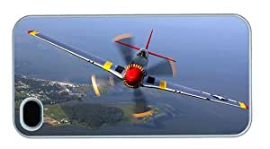 Hipster iPhone 4 case designer P51 Mustang Flight PC White for Apple iPhone 4/4S by runtopwell
