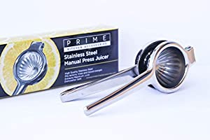 Prime Kitchen Accessories Stainless Steel Manual Lemon Squeezer for Maximal Juice Extraction