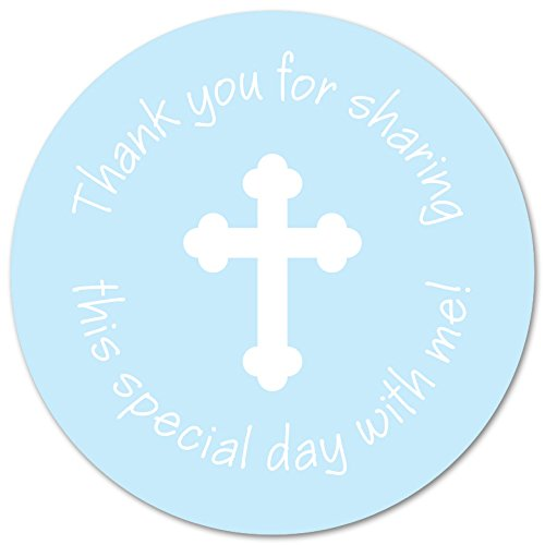 Boy Blue Cross Thank You Stickers For Baptism And Communion 60 Count Buy Online In Angola At Angola Desertcart Com Productid 41788607