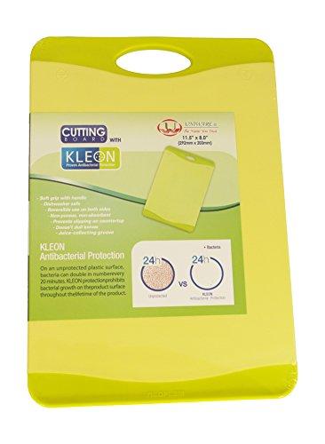 Microban Antimicrobial Cutting Board Lime Green - 11.5x8 inch (Fruit Cutting Board)