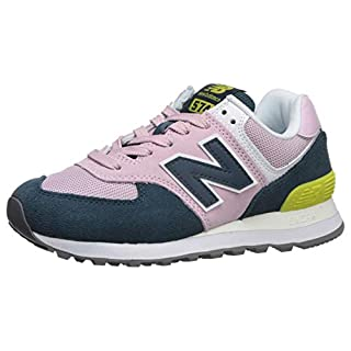 New Balance Women's 574 V2 Sneaker, Oxygen Pink/Supercell, 7 W US