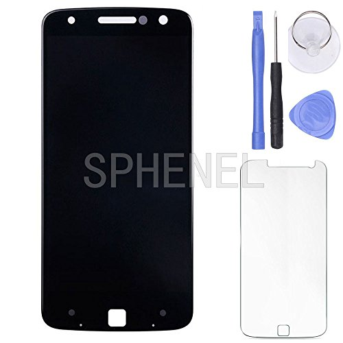 SPHENEL LCD Display Screen And Digitizer Touch Screen Assembly For Motorola Moto Z Droid Edition XLTE XT1650 XT1650-01 XT1650-03 (Black) by SPHENEL