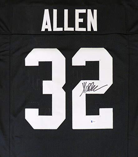 Oakland Raiders Marcus Allen Autographed Black Jersey Beckett BAS