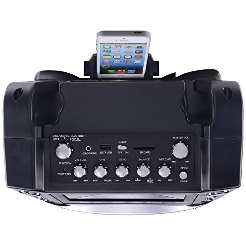 Karaoke GF842 DVD/CDG/MP3G Karaoke System with 7'' TFT Color Screen, Record, Bluetooth and LED Sync Lights by Karaoke USA (Image #13)