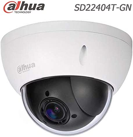 Dahua 4MP PTZ IP Camera SD22404T-GN 2.7-11mm Varifocal Lens 4X Optical Zoom PTZ PoE Dome Network Camera Face Detection IP66 – English Version