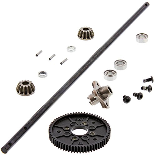 HPI 1/10 RS4 Sport 3 Flux CENTER DRIVE SHAFT, 66T SPUR & 13T BEVEL GEARS Hub