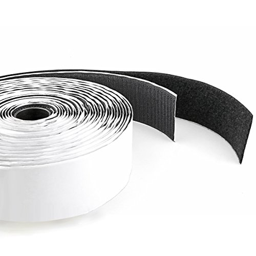 Double Sided Stick Self Mounting - Hook & Loop Self Adhesive Strong Gripping Fastener Tape 1