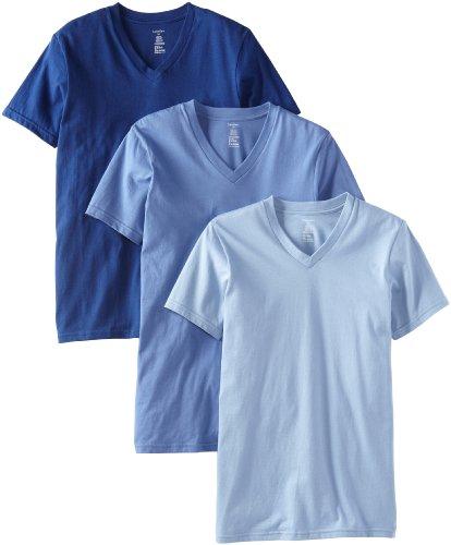 Men's 3-Pack Classic V-Neck T-Shirt,Blue Depths, Small
