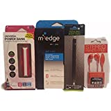 M Edge Kindle Case 4 Piece Bundle Set Stylus Pen, Power Bank Charger, Hands-Free Earphone with Built-In Mic