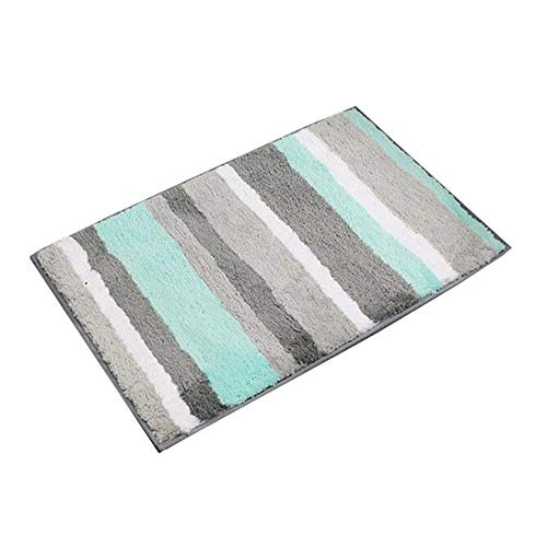Brown Striped Rug - Bathroom Rug Mat Non-slip Plush Carpet Mats Shower Bath Rug Machine Washable Perfect for Tub, Shower, and Bath Room ((18×26