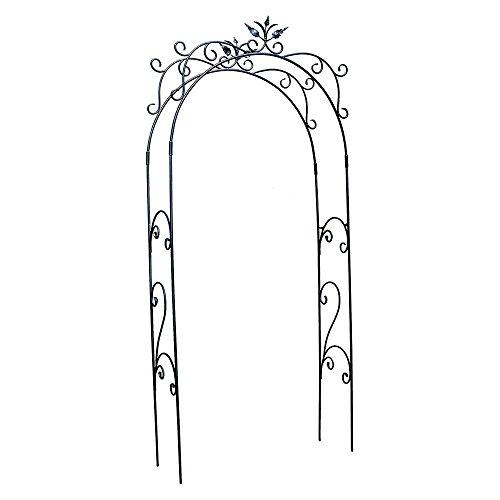 Achla Arbor Bench - Achla Designs ARB-01 Tuileries Arbor Garden Arch, Graphite