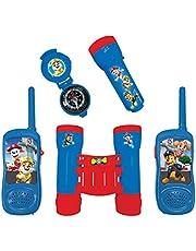 Lexibook Paw Patrol Chase Avonturenset voor Kinderen, Walkie-talkies 120m, Verrkijker, Kompas, Zaklamp, Blauw / Rood , RPTW12PA