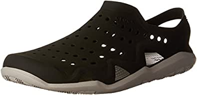 Crocs Men's Swiftwater Wave Shoe, Black/Pearl White, M11