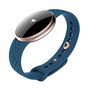 Niome Lady Smart Watch Bracelet with Blood Pressure Heart Rate Monitor Fitness Tracker for Women Blue