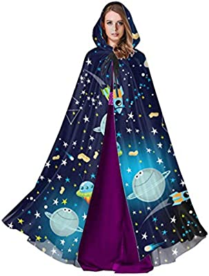 ZHANGhome Increíble Sistema Solar Space Hood Cloak Capa con ...