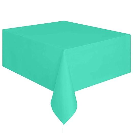 BOLANQ Mantel de plástico Rectangular Grande para Mesa, se Limpia ...