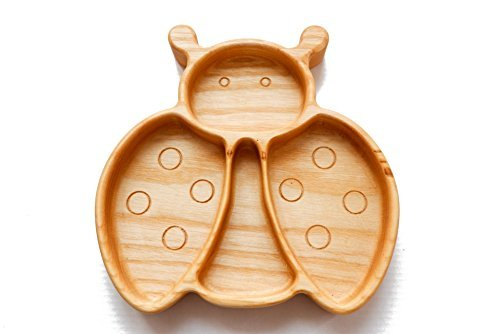 Wooden Toddler Plates for Kids Plate Divided Baby