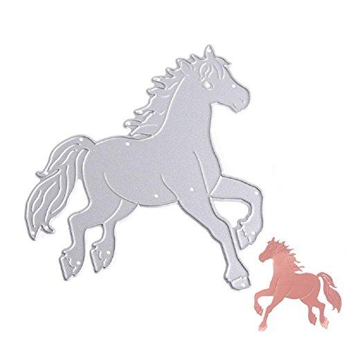 Bottone Metal Cutting Dies Stencil Template Mould for DIY Scrapbook Album Paper Card Craft Decoration (Horse)