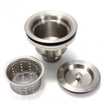 High Quality Stainless Steel Kitchen Water Sink Strainer Plug Drain Basket
