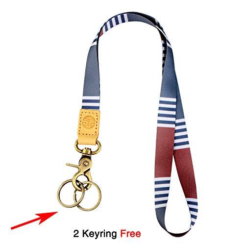 (Neck Lanyard Keychain Holder with 2 Free Keyring (Arbor))