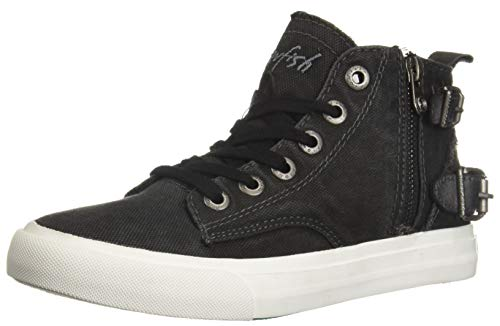 Blowfish Women's Moxie Sneaker, Black Smoked Canvas, 8 Medium US