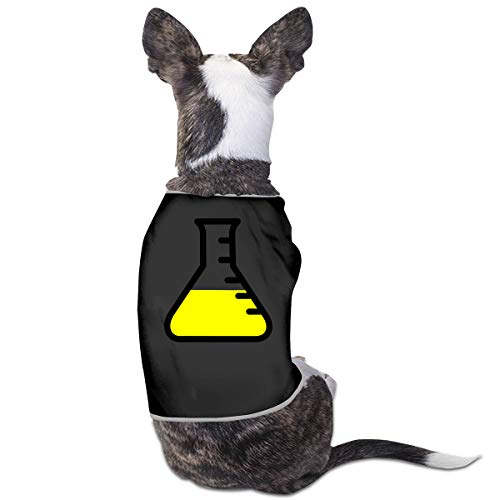 Jmirelife Puppy Dogs Shirts Costume Pets Clothing Chemistry Glass Tube Small Dog Clothes Vest]()