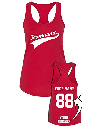 Custom Women's Racerback Jersey for Team Apparel with Unique Design - Baseball Add Your Name Number Shirts ()