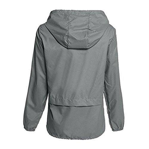 Impermeabili Leggero Grigio antipioggia Coat Uomo Rainwear Giacche Rain Thin Mxssi Rain Windbreaker Coats Donna zS8OYY