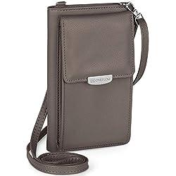 ONEFLOW Handy Umhängetasche Damen klein kompatibel mit alle Oukitel - Handytasche zum Umhängen mit Geldbörse…