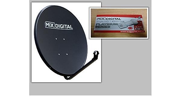 60 cm Mix Digital Solid Satellite Dish con Single MD-1 0,1 dB ...