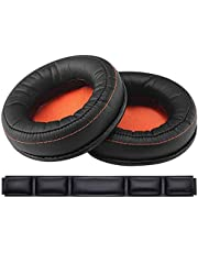 Oriolus Ear Pads Cushions and Headphone Headband for SteelSeries Siberia 800 840 Lag-Free Wireless Gaming Headset (Black & Orange)