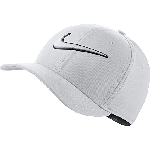 Nike Classic 99 Swoosh Golf Cap 2017, White/Anthracite, Large/X-Large