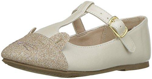 The Children's Place Girls' TG Cat June Ballet Flat, Ivory/Ivory, TDDLER 10 Toddler US -