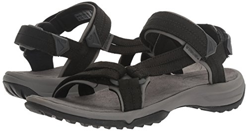 Outdoor Sandal Lite Leather Terra black Hiking Sports Fi And Teva Women's Black zw0xUU