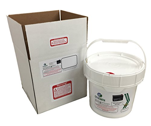 EZ on the Earth, Lead Acid Battery Recycling Kit, 2.0 Gallon Battery Recycling Pail, Pre-Paid, Mail-Back Recycle Kit for Lead Acid - Dry Battery Cell Recycling
