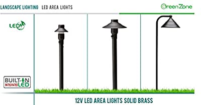 Westgate Lighting LED Landscape Area Light-Emits 200 Lumens of Brightness-Integrated SMD LED Tower Light Source-Heavy Duty Clear Glass Lens - Height-Integrated LED Outdoor Light