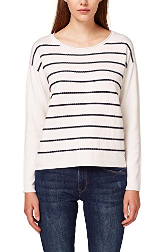 edc by Esprit, Pull Femme Blanc (Off White 2 111)