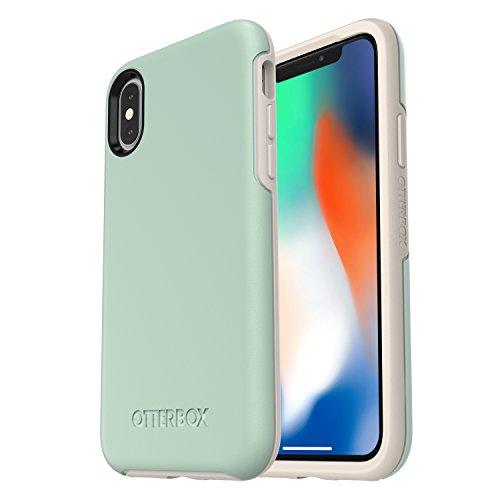 (OtterBox SYMMETRY SERIES Case for iPhone Xs & iPhone X - Retail Packaging - MUTED WATERS (SURF SPRAY/SILVER LINING))
