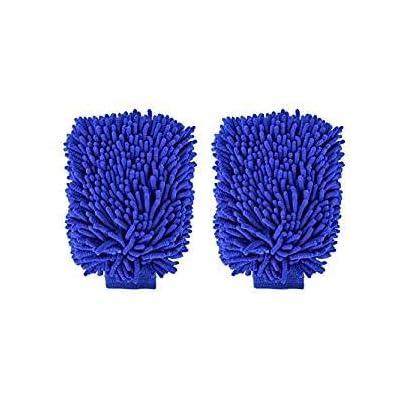 "choolo Car Wash Mitt, 8"" x 11"" Microfiber Wash Sponge,Scratch Free Wash Glove with Normal Size Polishing Cloth for Car/SUV/Truck(2 Pack): Automotive"