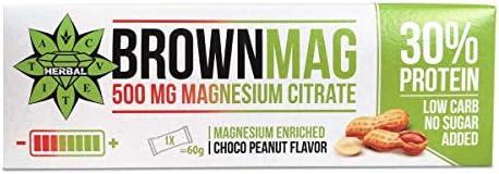 Cvetita Herbal BrownMag 30% Proteinriegel mit Erdnüssen und Schokolade 12 х 60gr