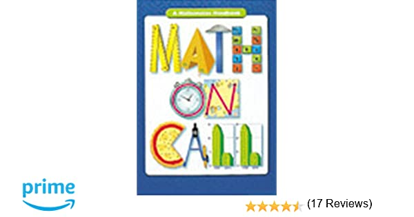 Math on Call: Handbook (Hardcover) Grades 6-8 2004: GREAT SOURCE ...