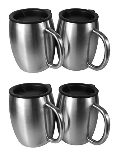 KOYUPI Covered Stainless Steel Coffee Cup-14Oz Double-Wall Insulated Coffee Beer Cup from 4-Optimum Value-Free Healthy Choice-Breakproof and Spillover Prevention