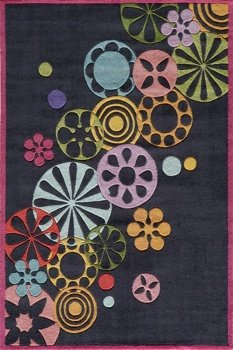 Momeni Lil Mo Hipster 4' X 6' Rug in Black (Lil Mo Hipster)