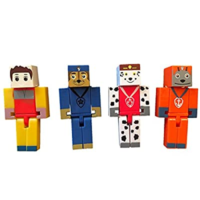 Mini Action Figure 16pcs Set Minecraft Style Pixelated Puppy Patrol from NEW BRAND