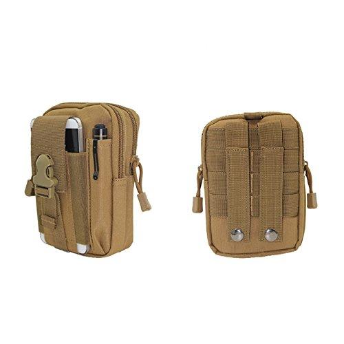 Generic Desert camouflage: tela tasche Outdoor Leisure sport Utility Ispettore Sports organizer Travel Storage Bag militare impermeabile del telefono